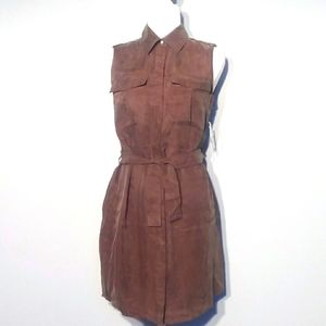ROMEO + JULIET COUTURE Khaki Olive Shirt Dress